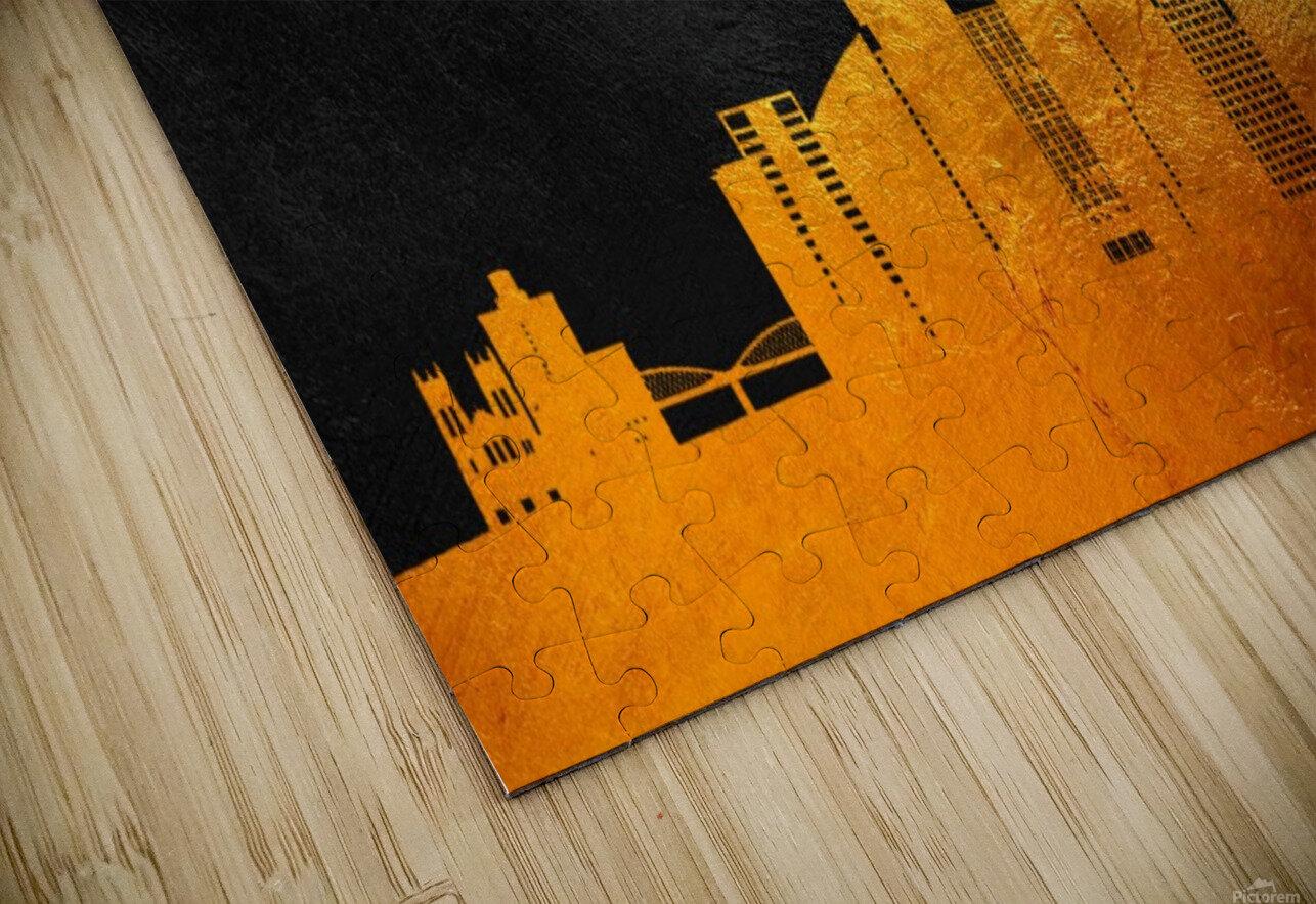 Fort Worth Texas Skyline Wall Art HD Sublimation Metal print