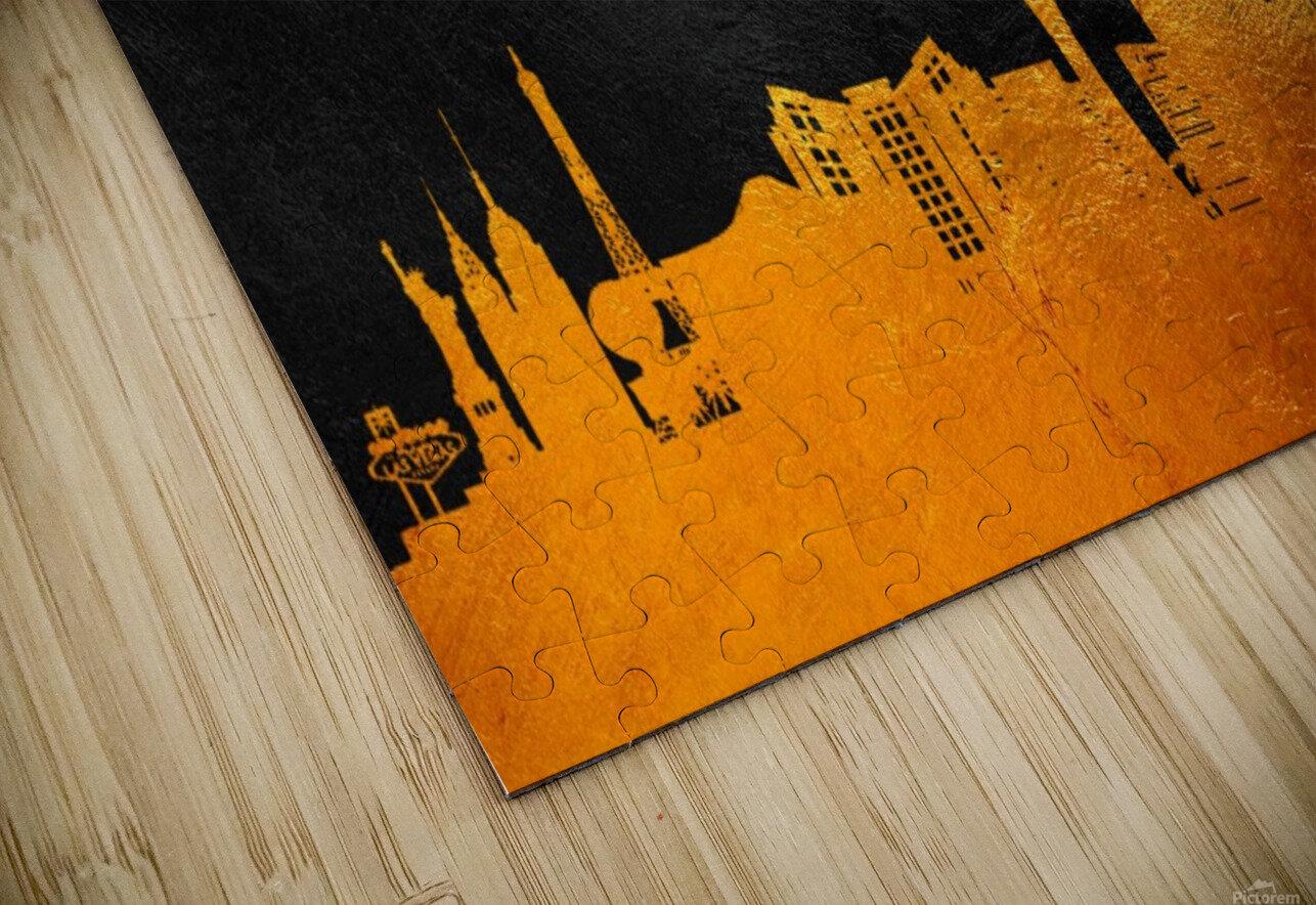 Las Vegas Nevada Skyline Wall Art HD Sublimation Metal print