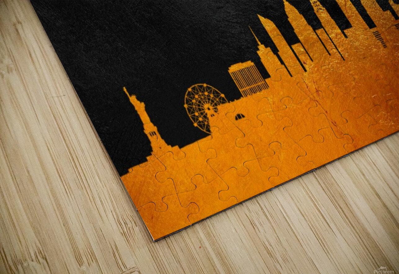 New York New York Skyline Wall Art HD Sublimation Metal print