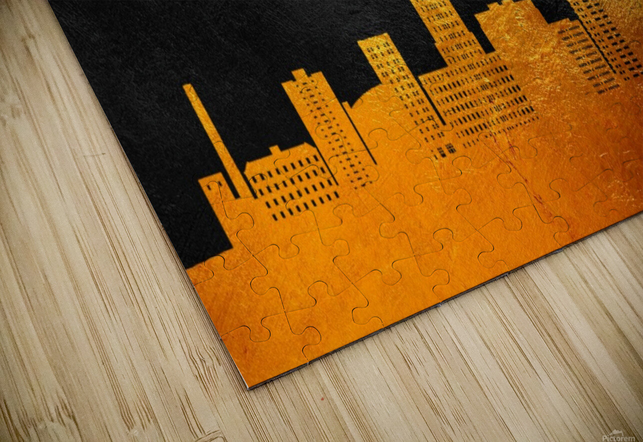 Reading Pennsylvania Skyline Wall Art HD Sublimation Metal print