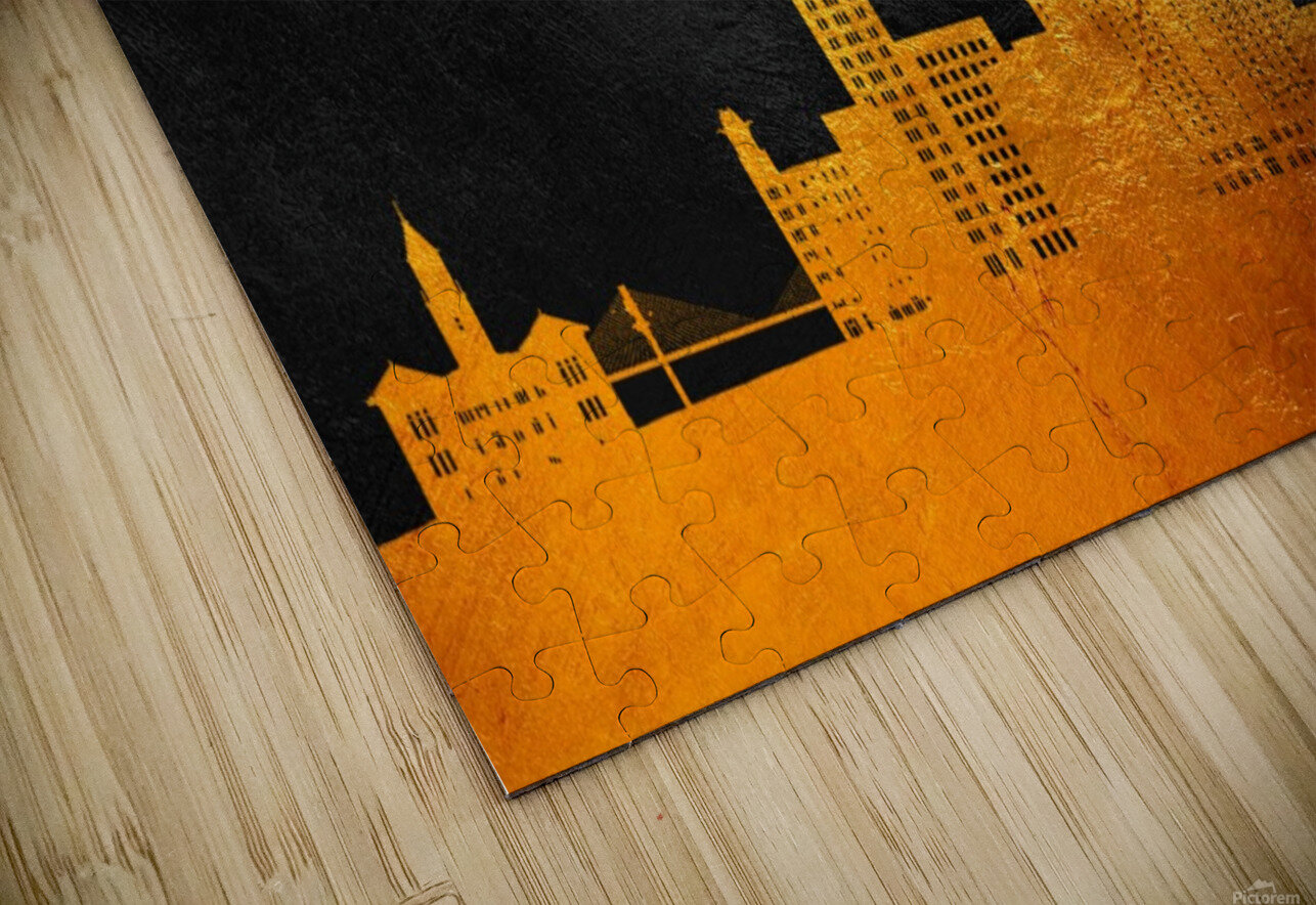 Savannah Georgia Skyline Wall Art HD Sublimation Metal print
