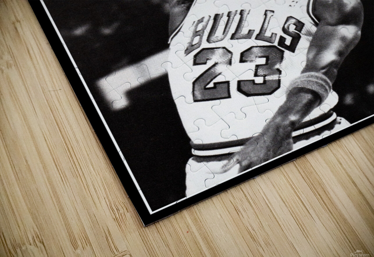 Retro Eighties Michael Jordan Basketball Art Print HD Sublimation Metal print