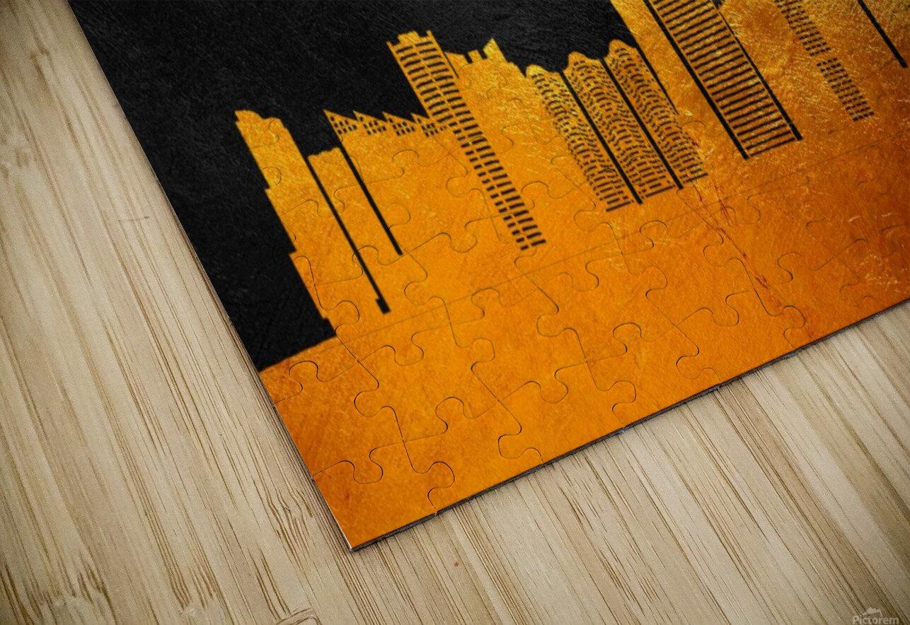 Sunny Isles Beach Florida Skyline Wall Art HD Sublimation Metal print
