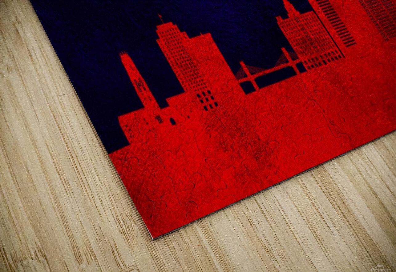 New Haven Connecticut Skyline Wall Art HD Sublimation Metal print