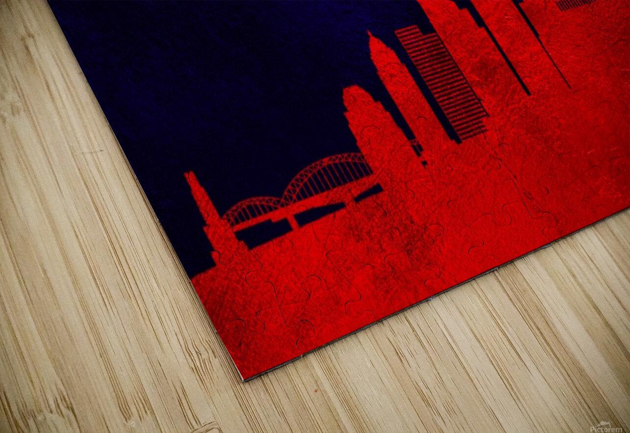 Pittsburgh Pennsylvania Skyline Wall Art HD Sublimation Metal print