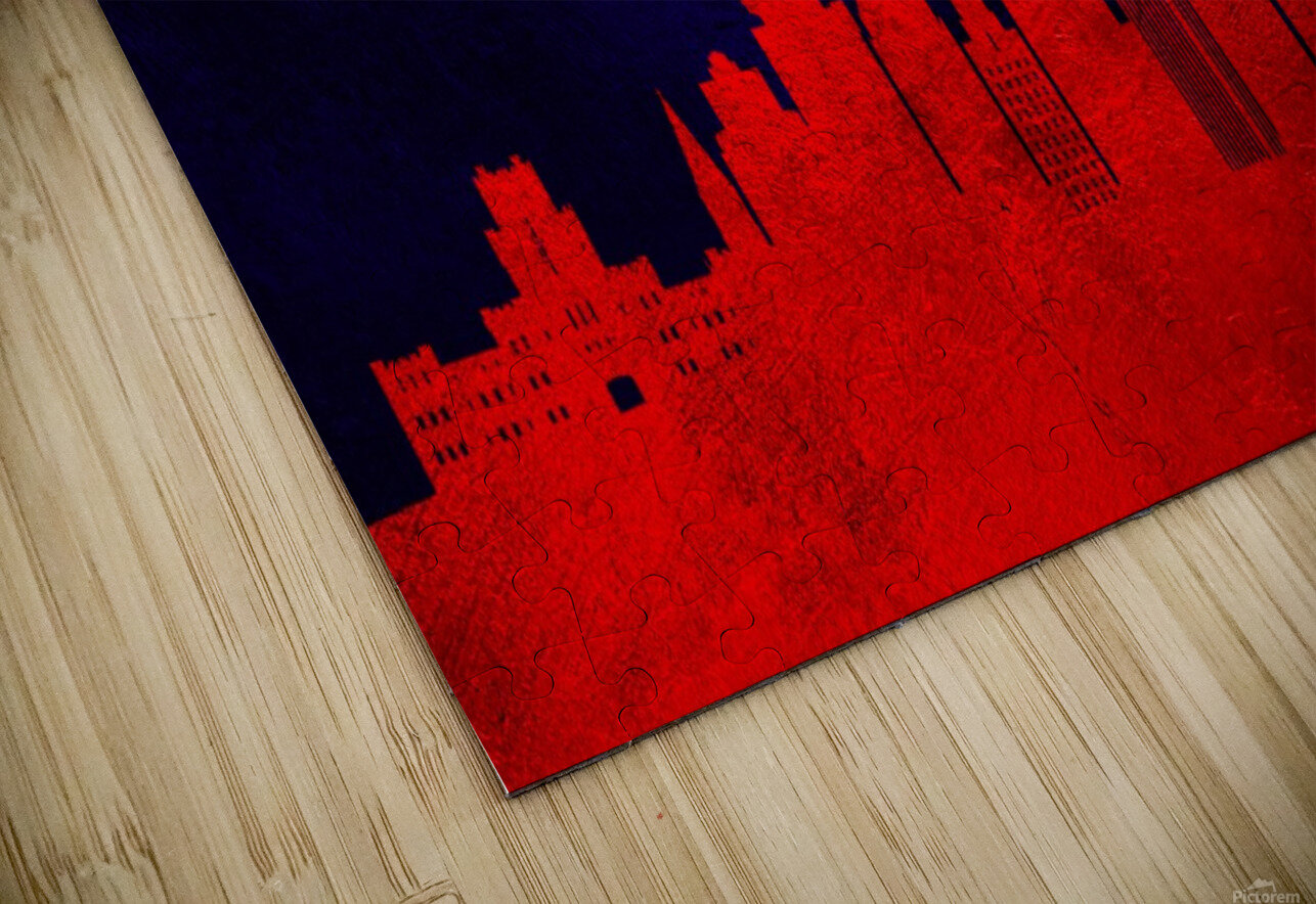 Rochester New York Skyline Wall Art HD Sublimation Metal print