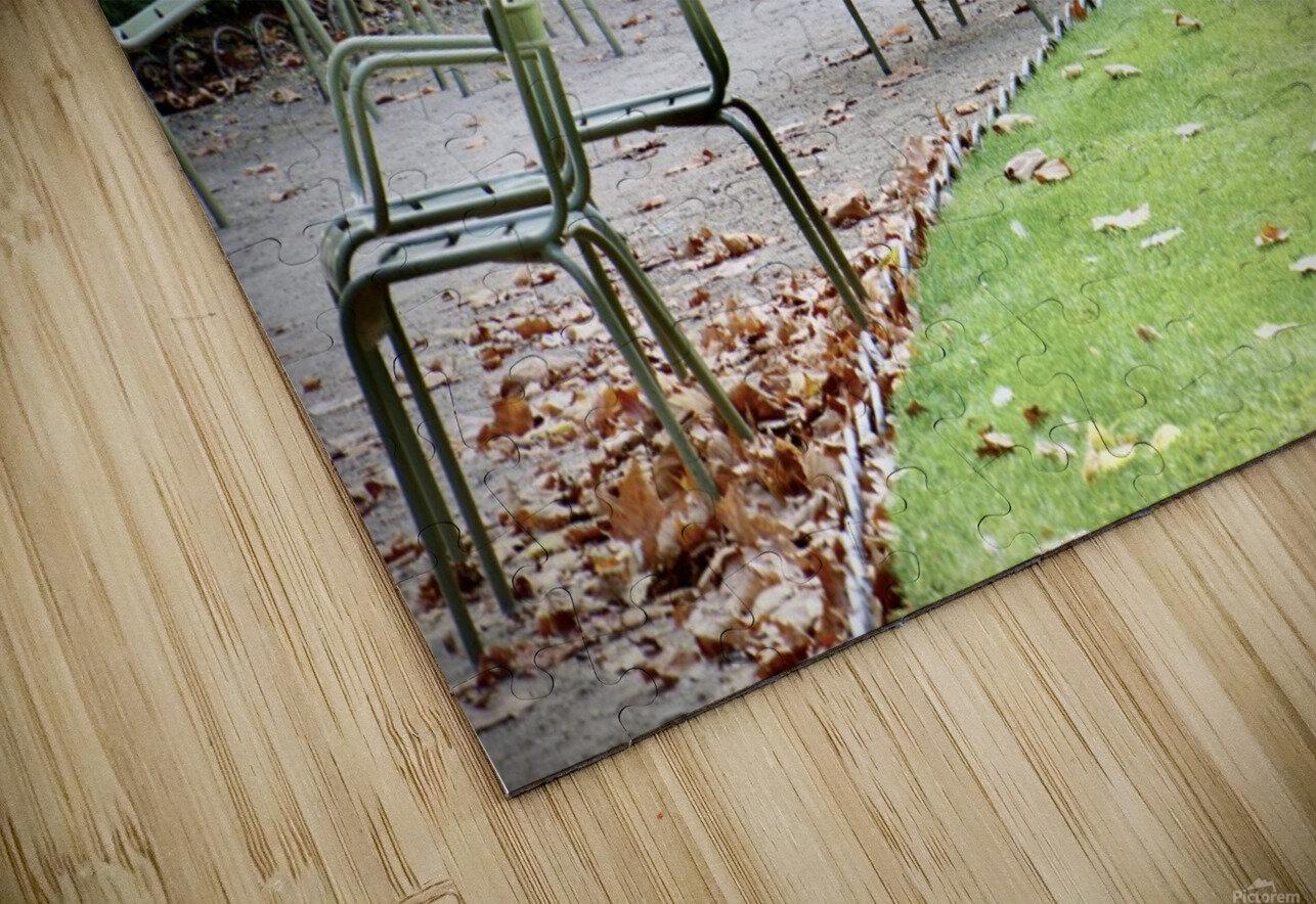 Chaises du Luxembourg   6 HD Sublimation Metal print