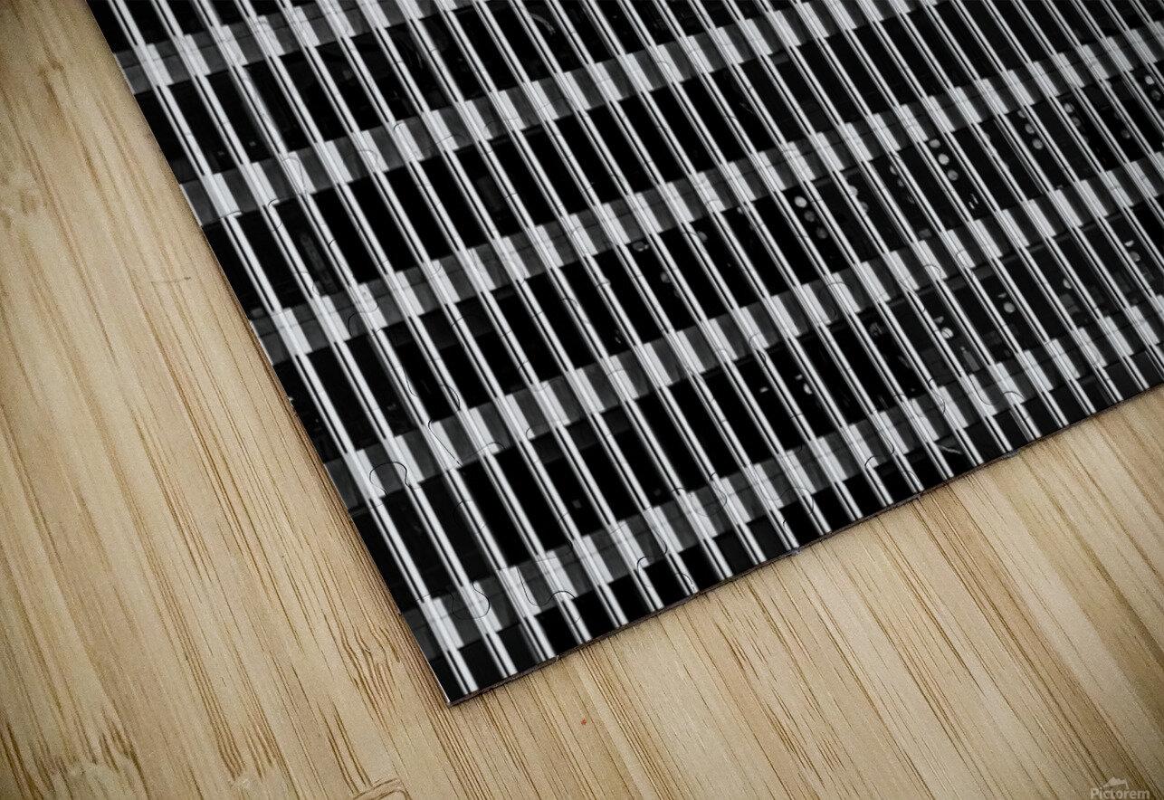 Black and White Skyscraper Windows Impression de sublimation métal HD