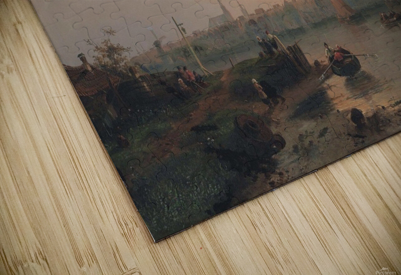 Evening on the Scheldt, Holland HD Sublimation Metal print