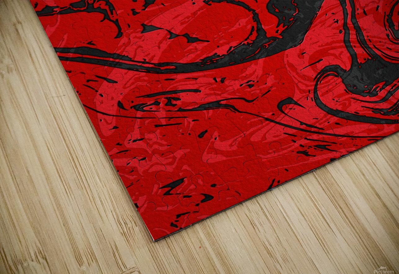 Black & Red Marble II HD Sublimation Metal print
