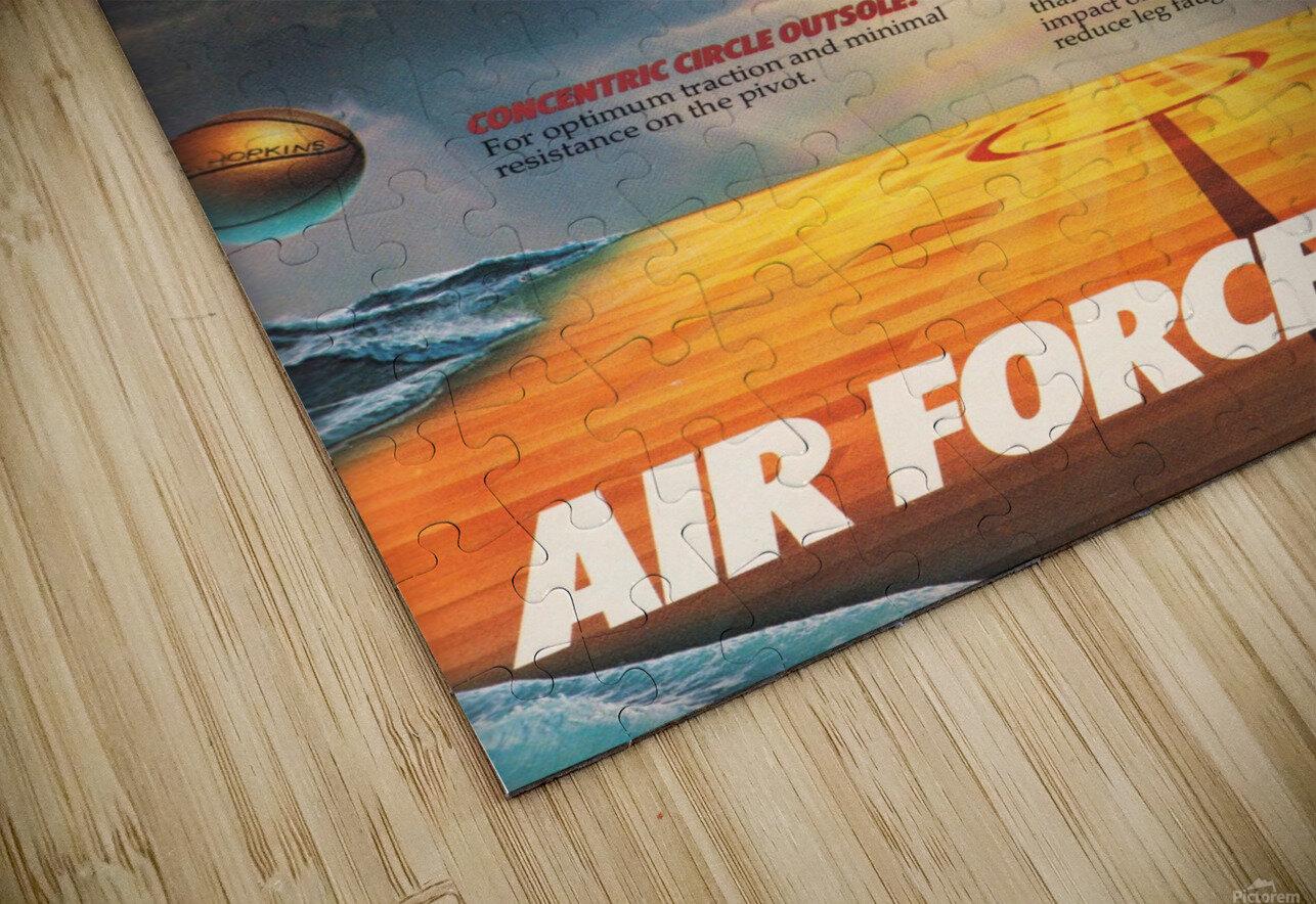 1984 Nike Air Force 1 Shoe Advertisement  HD Sublimation Metal print