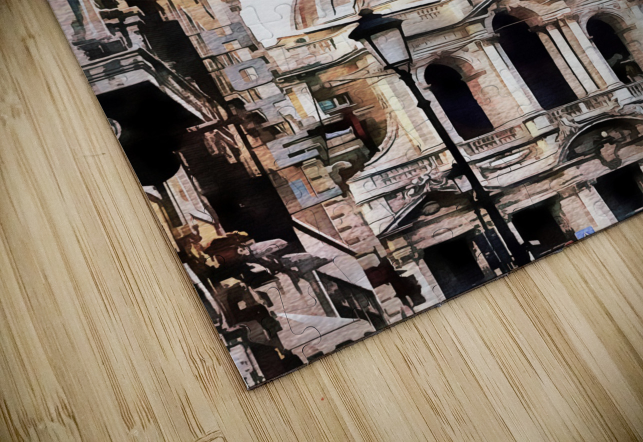 Street View Toward Basilica di Santa Maria Maggiore Rome HD Sublimation Metal print