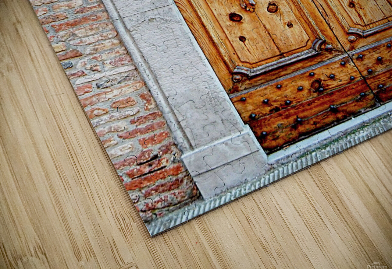Ornate Wooden Door Citta della Pieve 1 HD Sublimation Metal print