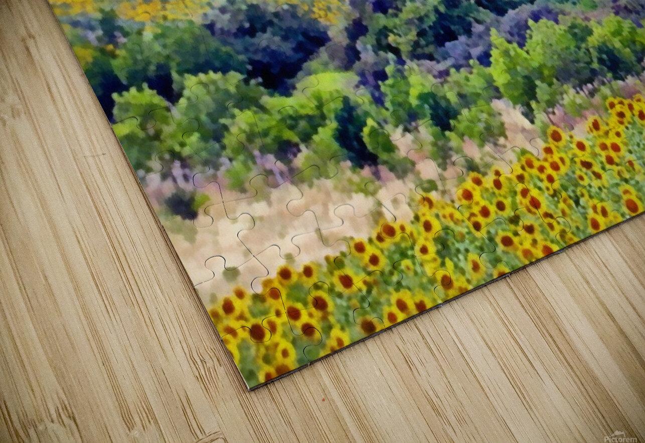 Sunflower Landscape HD Sublimation Metal print