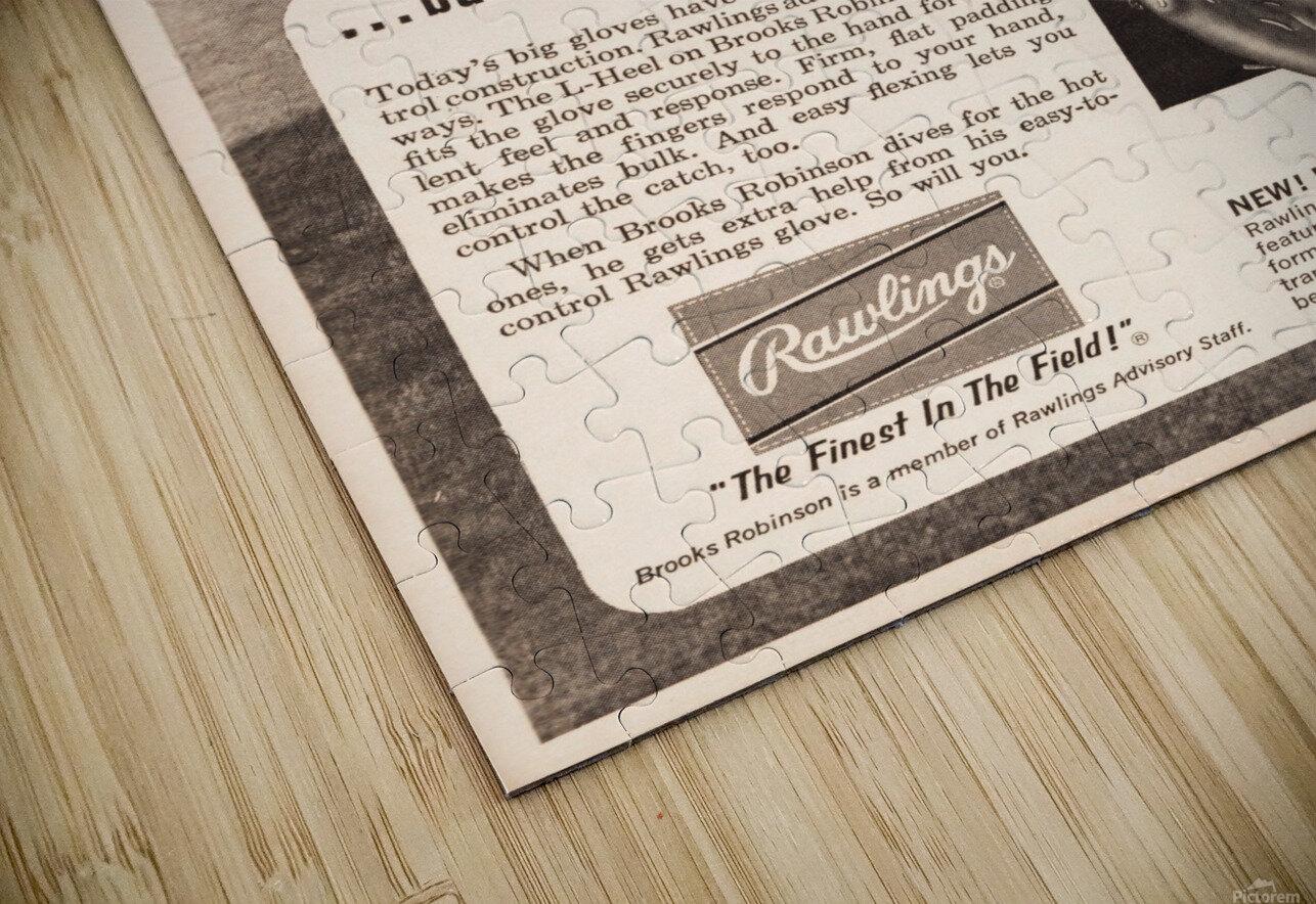 1963 brooks robinson rawlings baseball glove ad HD Sublimation Metal print