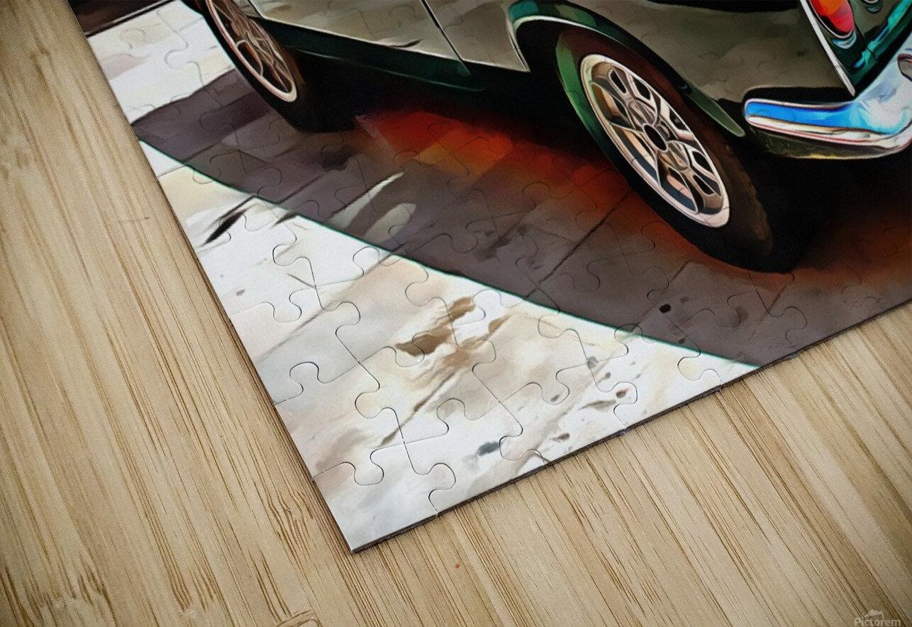 Fiat 850 Sport Coupe HD Sublimation Metal print