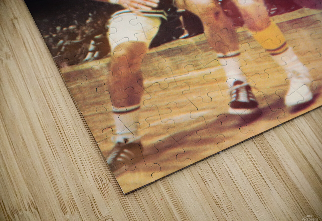 1969 Los Angeles Lakers Jerry West Art HD Sublimation Metal print