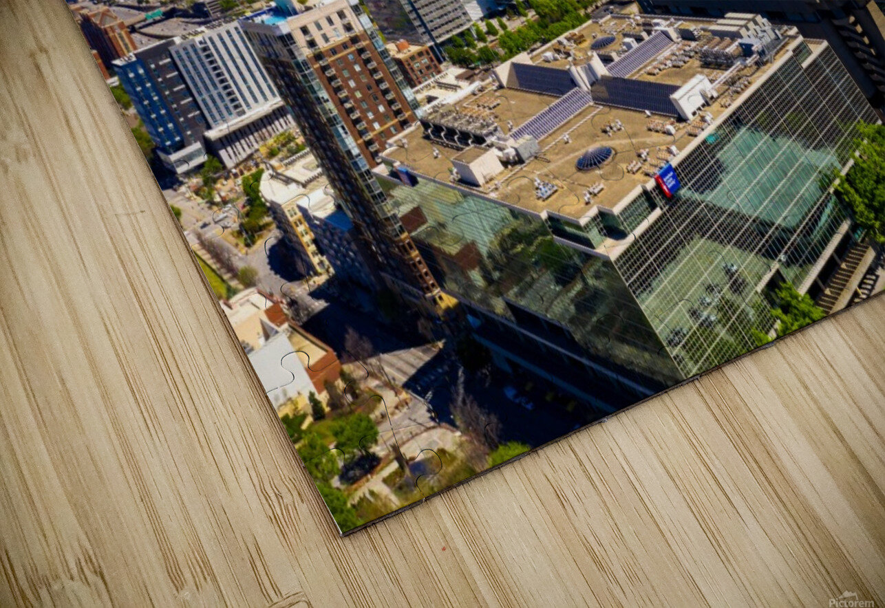 Downtown Atlanta Aerial View   Atlanta GA 0584 HD Sublimation Metal print