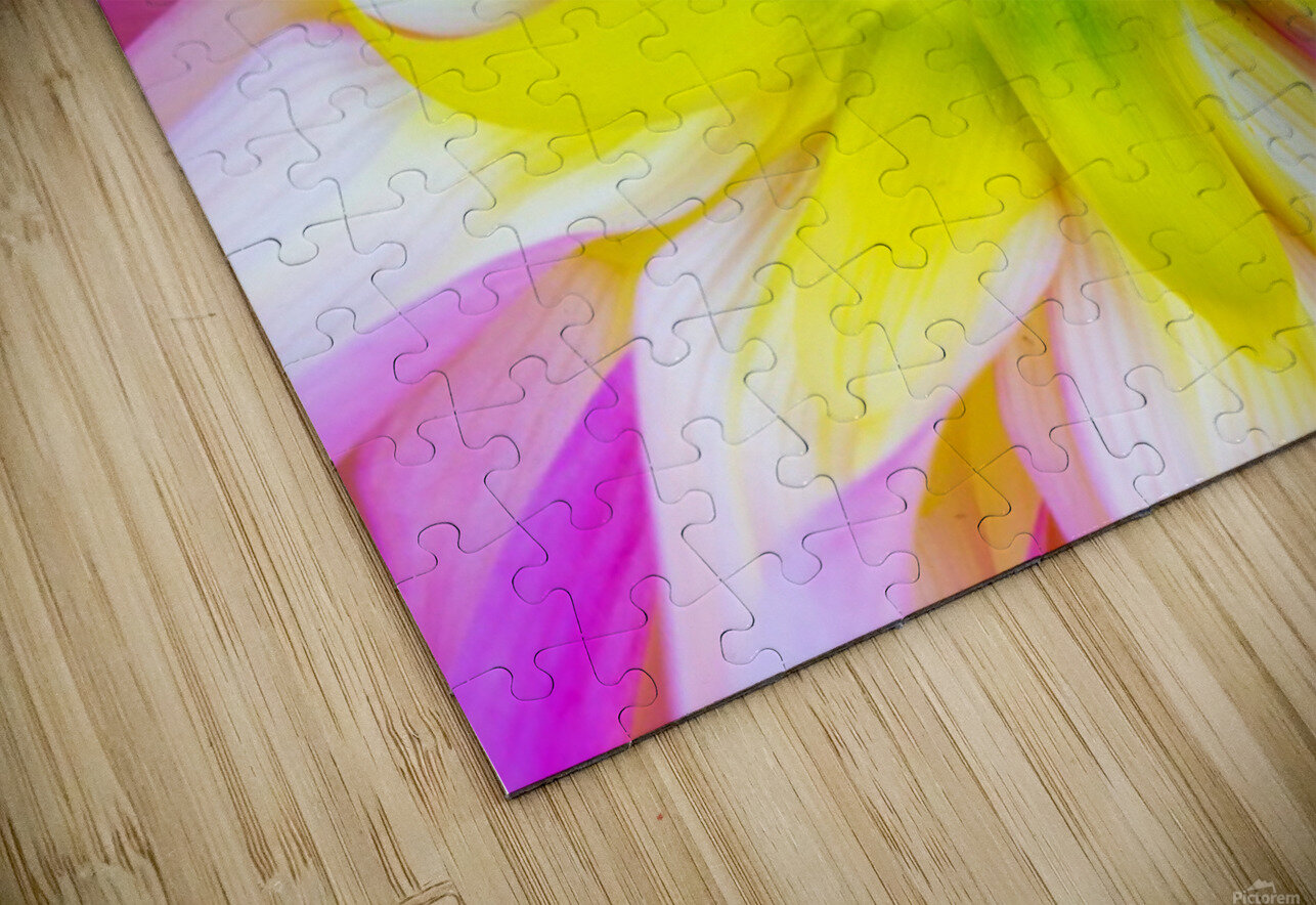 Pink Yellow Green  HD Sublimation Metal print