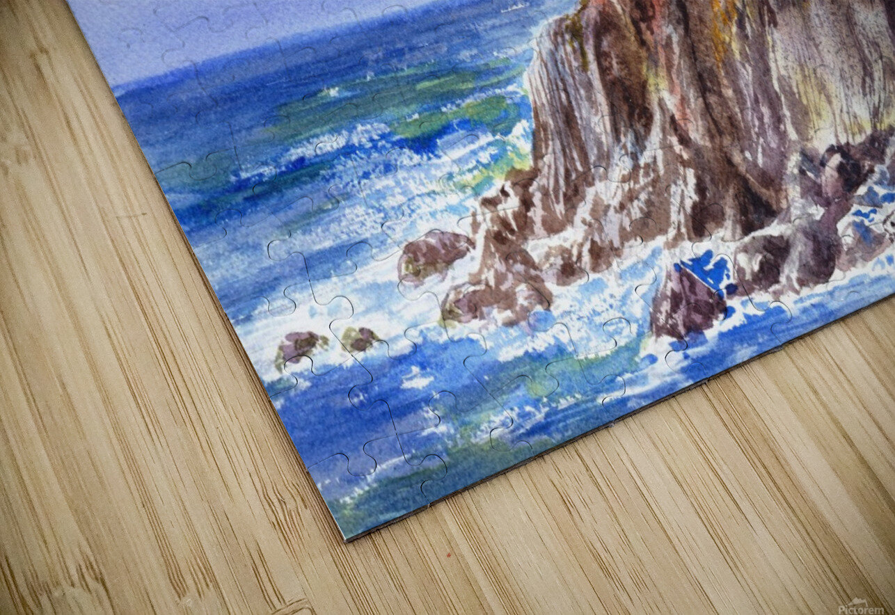 Lighthouse Point Arena California  HD Sublimation Metal print