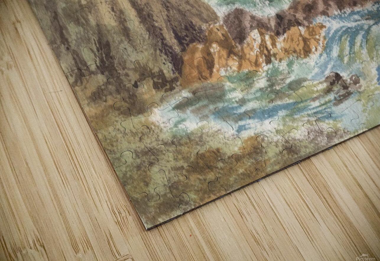 Vintage Storm At Rocky Shore HD Sublimation Metal print