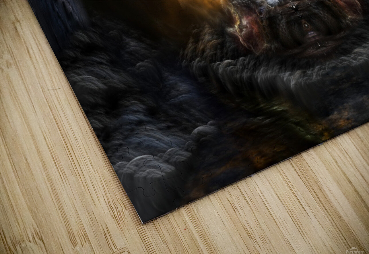 Path Of Shadows Fractal Fantasy Art HD Sublimation Metal print