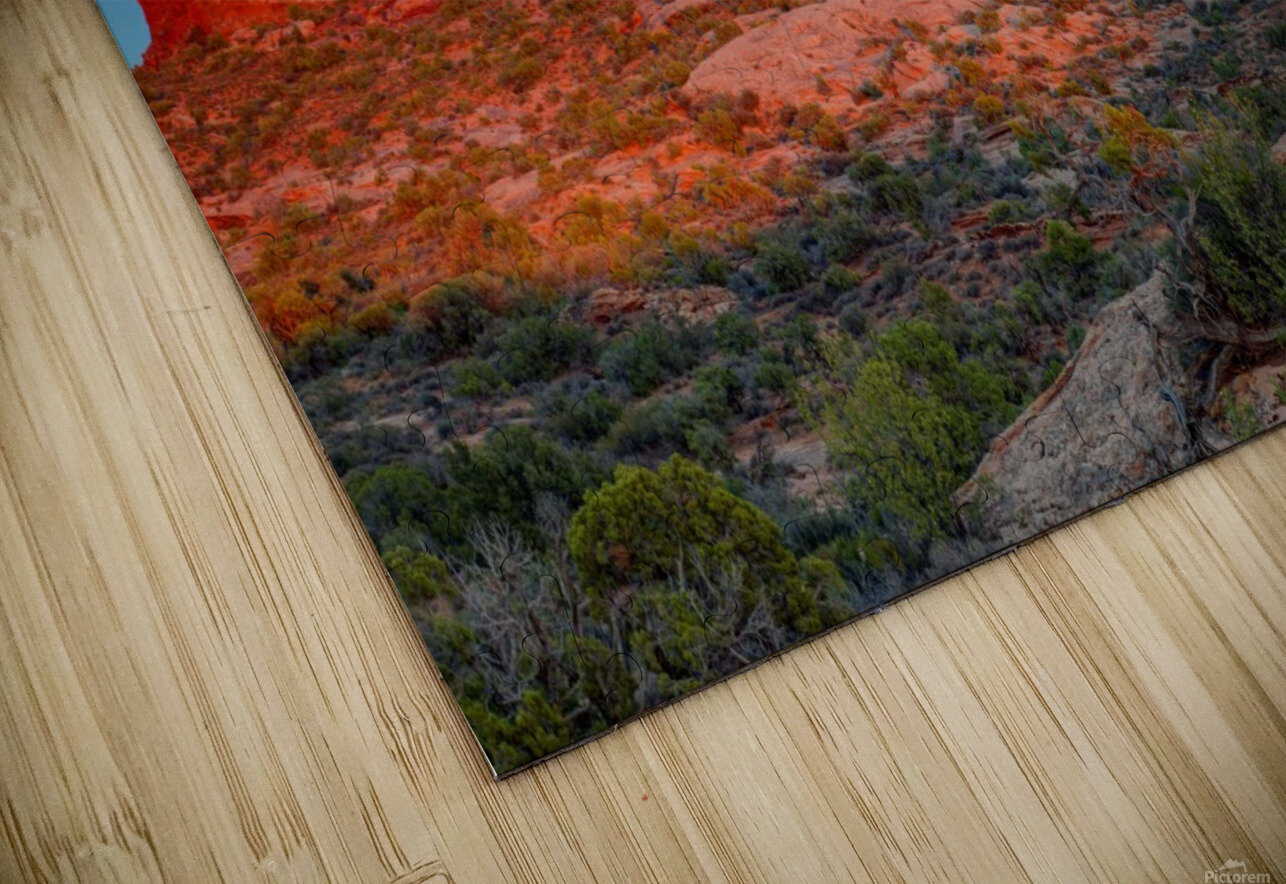 THE MAGIC OF SUNSET IN UTAH HD Sublimation Metal print