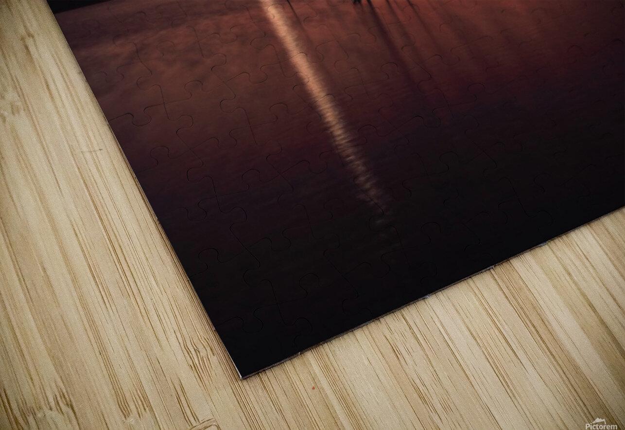 Wellington City Lake Sunset HD Sublimation Metal print