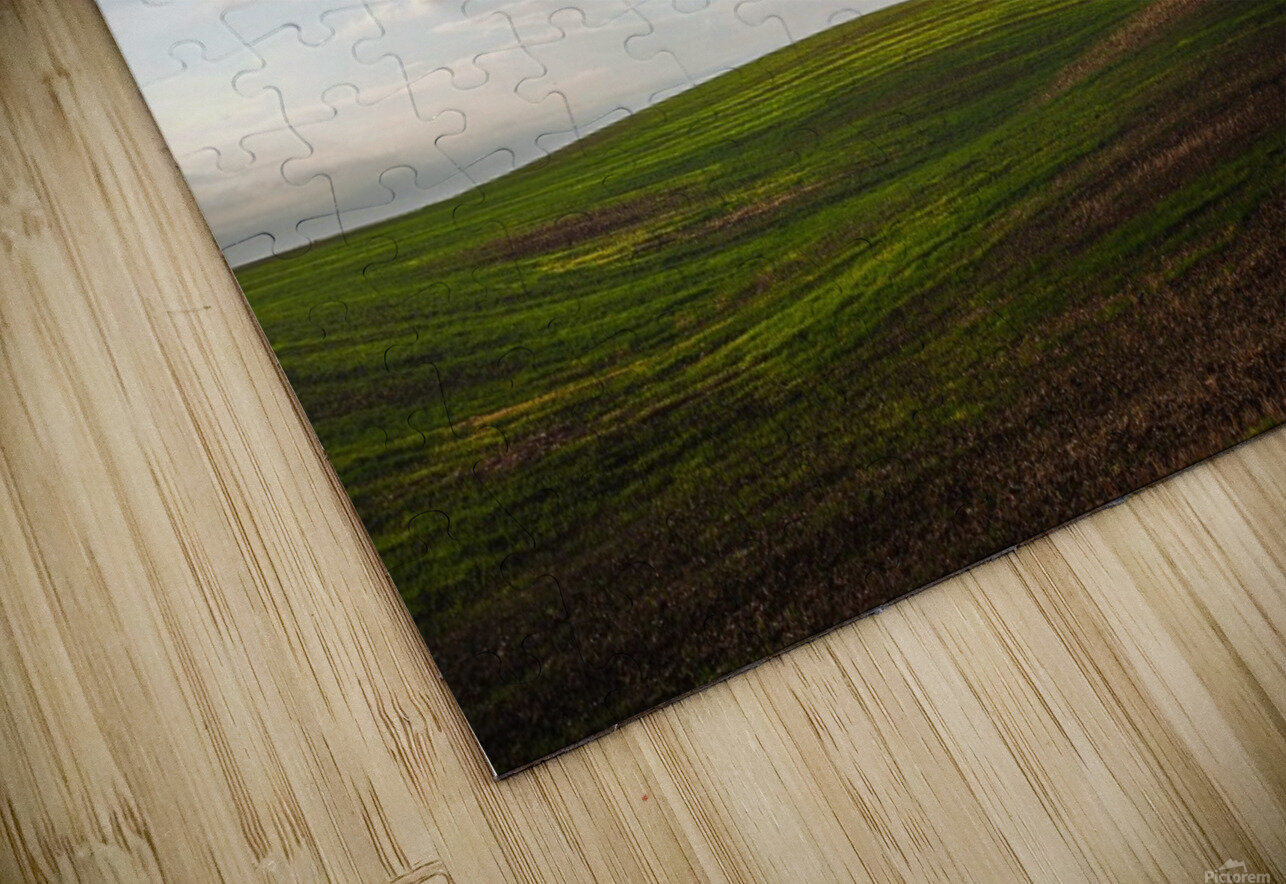 Fields and clouds HD Sublimation Metal print