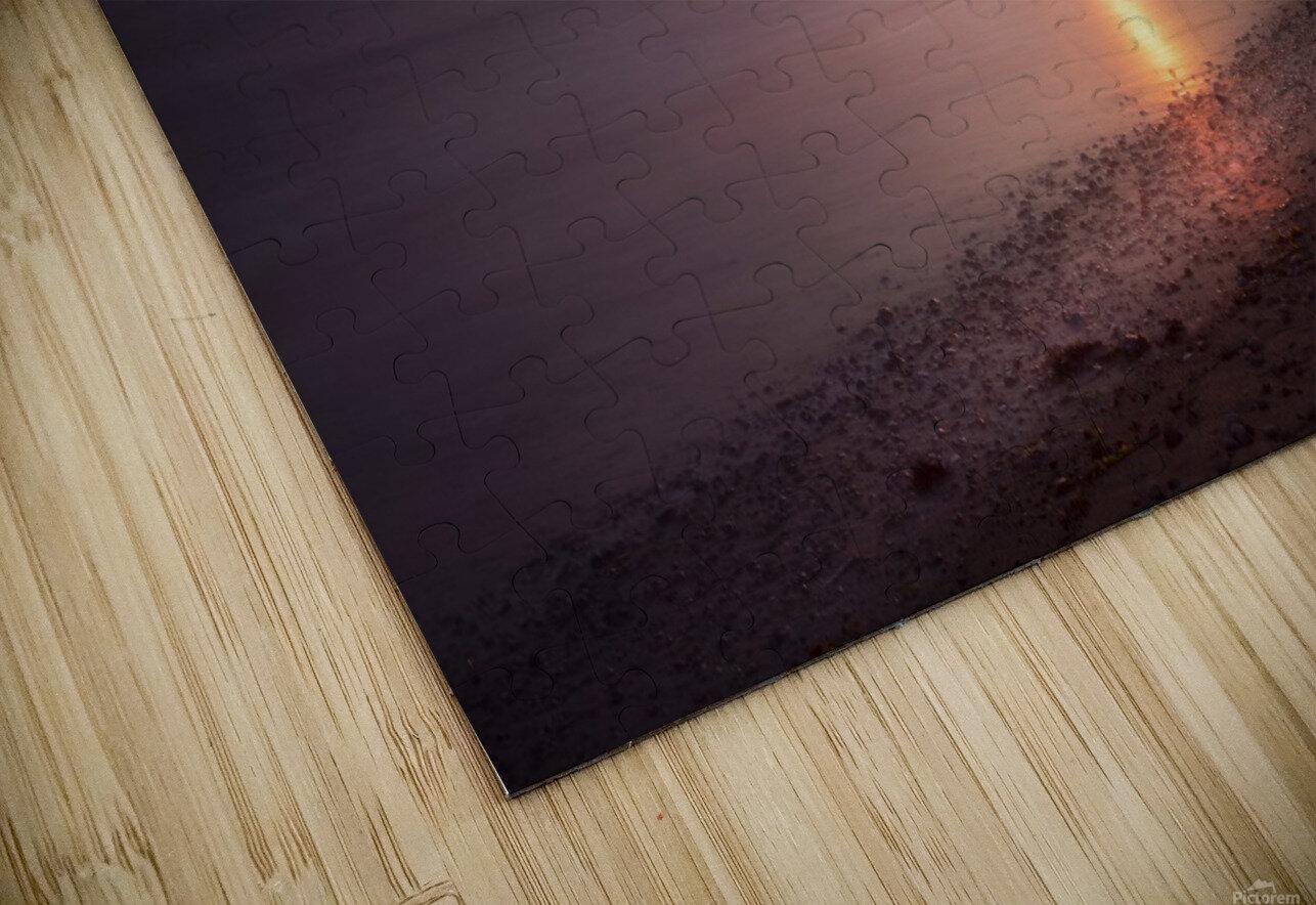 Sker Beach sunset HD Sublimation Metal print