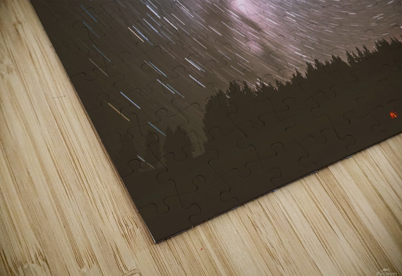 Spin of stars HD Sublimation Metal print