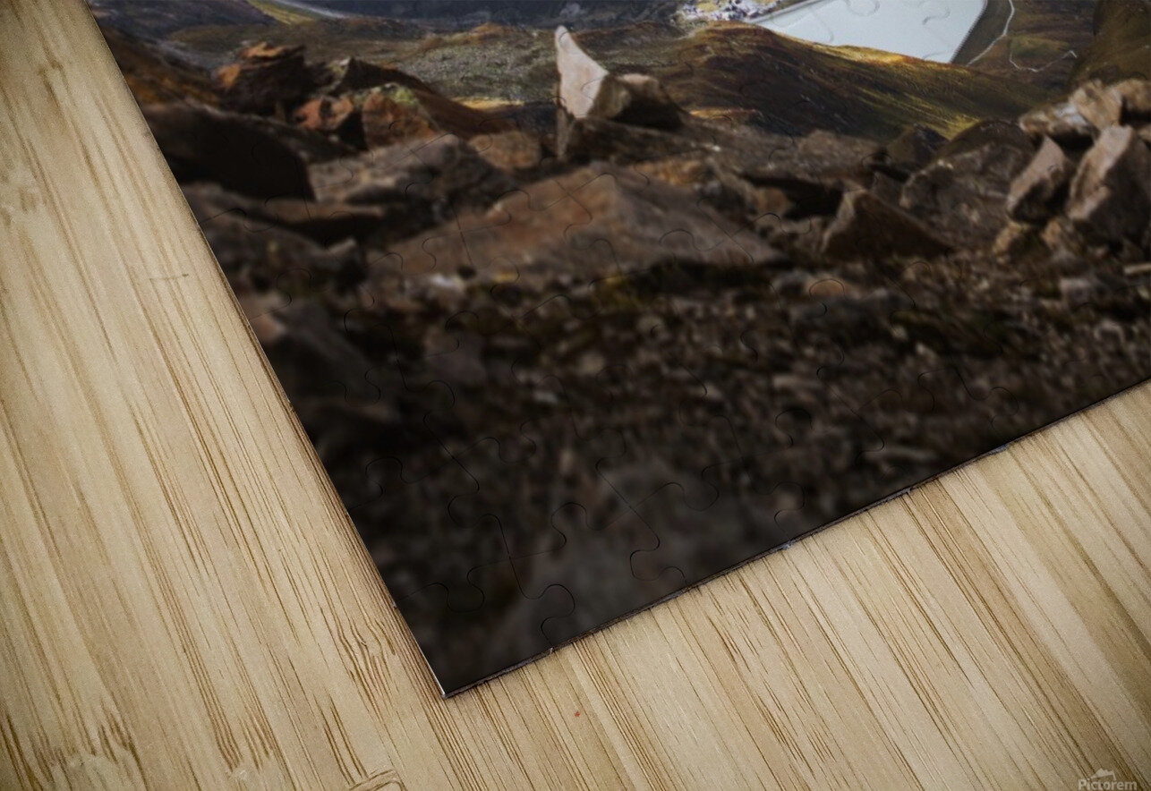 Surrounded by mountains HD Sublimation Metal print