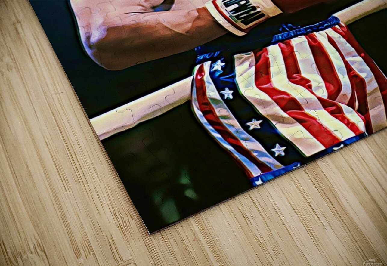 Rocky Sylvester Stallone HD Sublimation Metal print