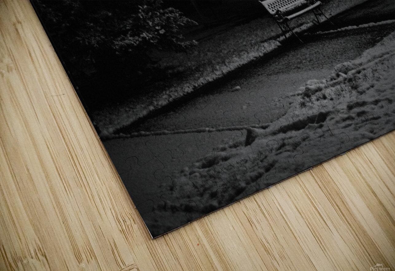 Winter night HD Sublimation Metal print