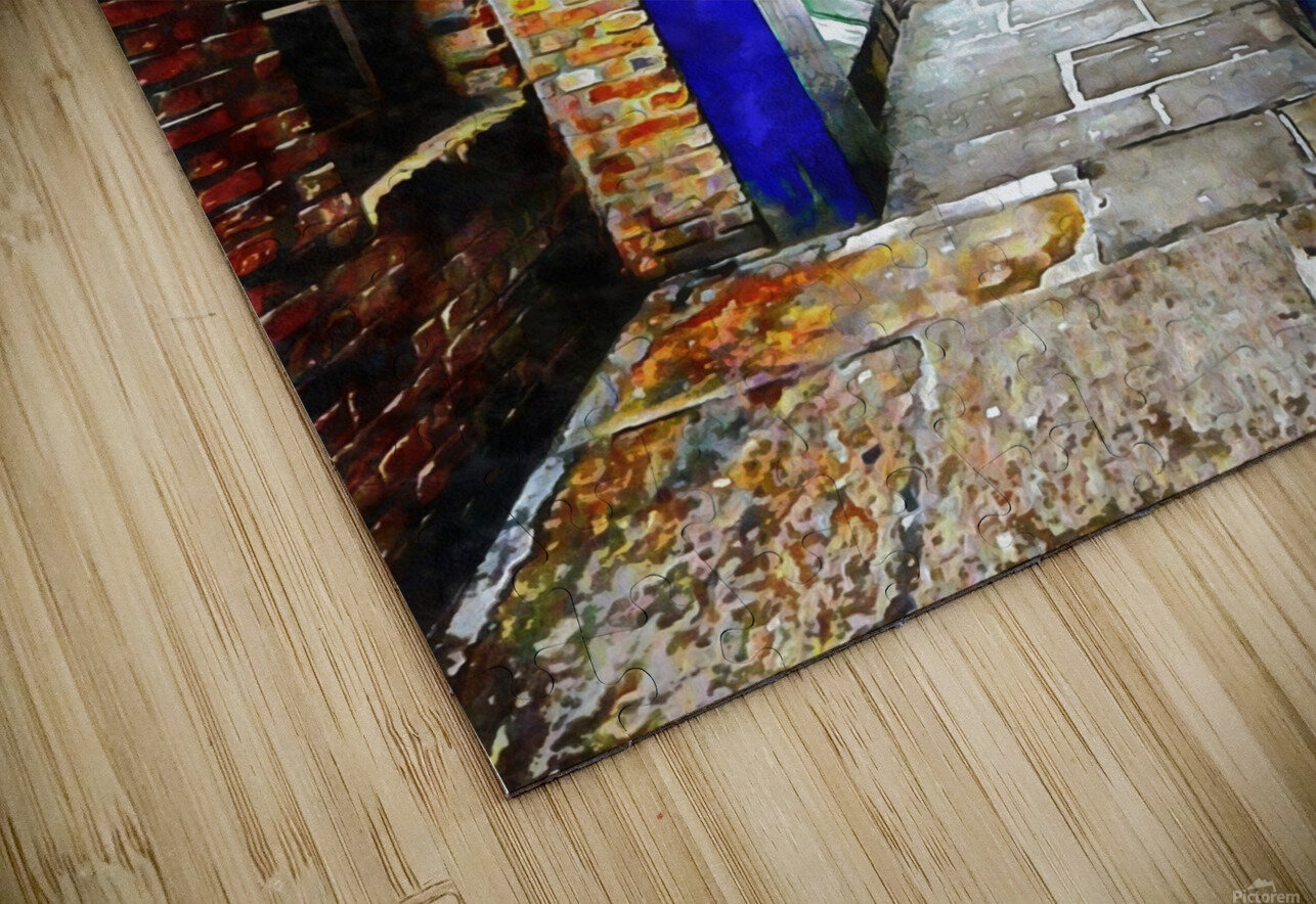 Linking Shad Thames with the River Thames HD Sublimation Metal print