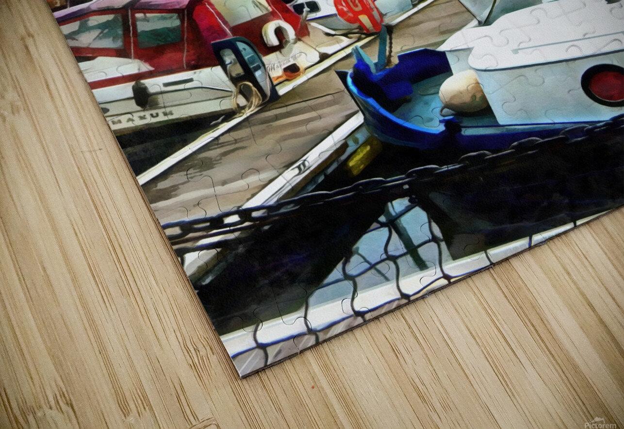 St Katharine Docks Boats 5 HD Sublimation Metal print