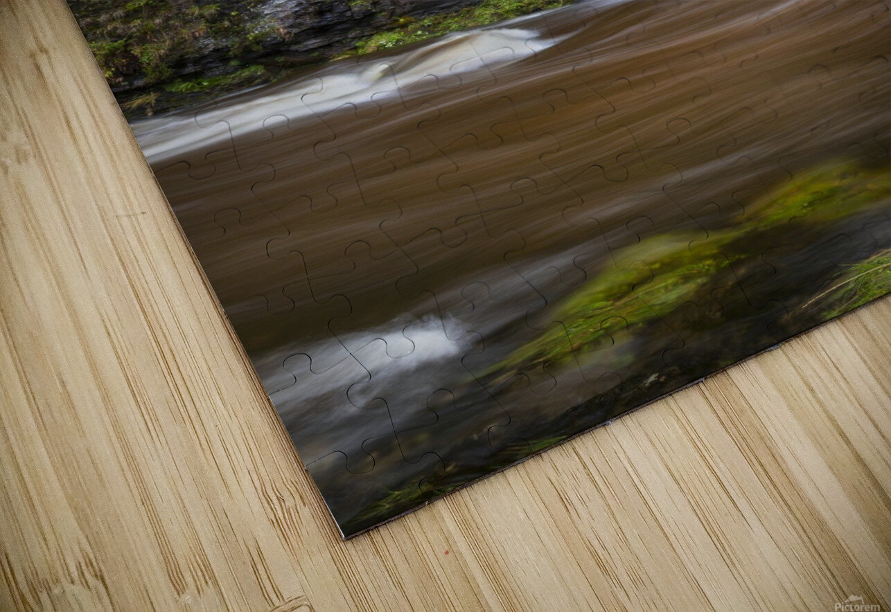 A waterfall on the river Tawe HD Sublimation Metal print