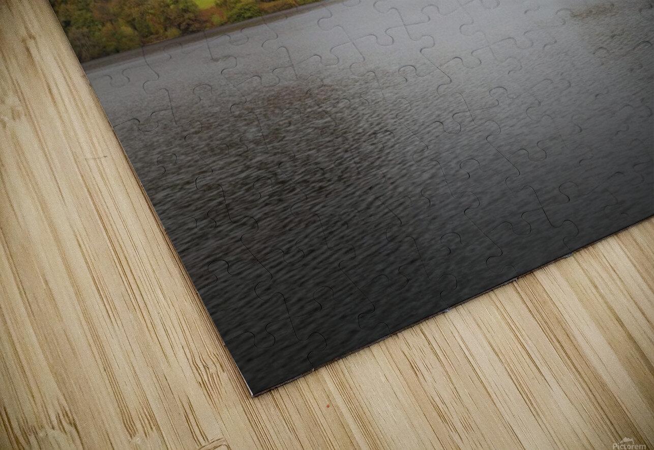 The Carreg Ddu reservoir HD Sublimation Metal print