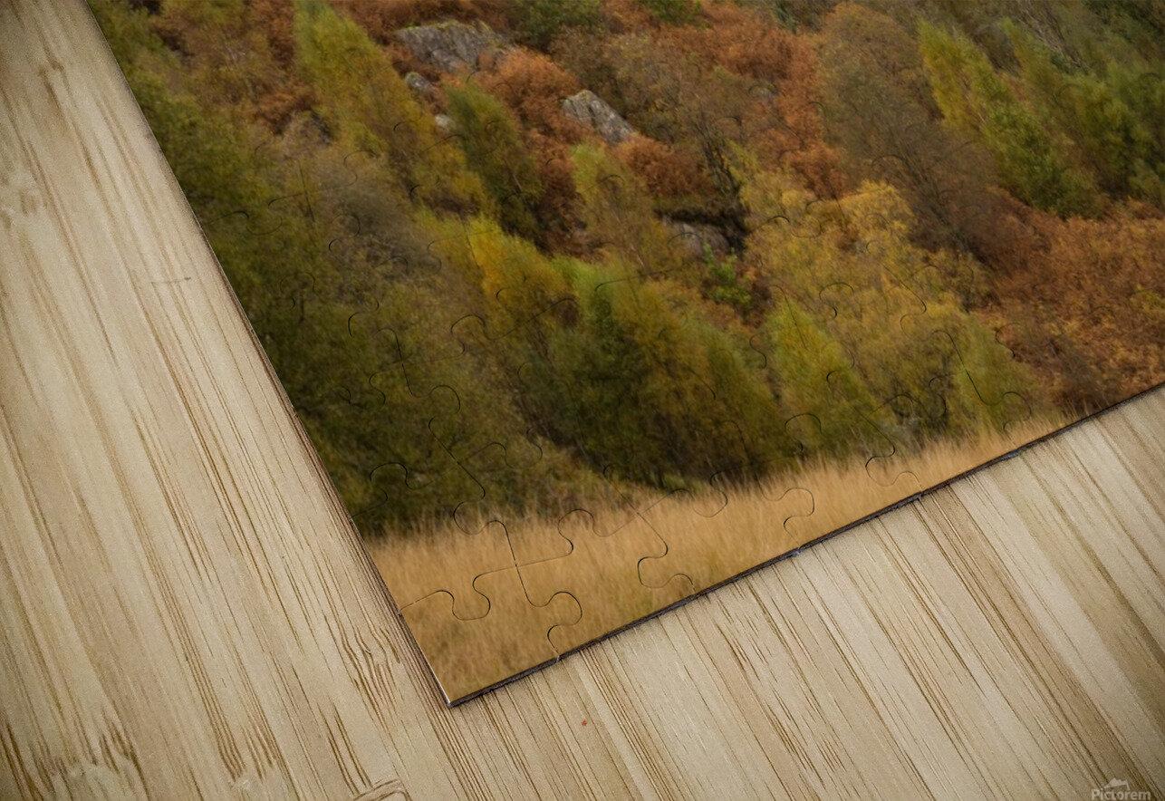 Elan Valley top dam HD Sublimation Metal print