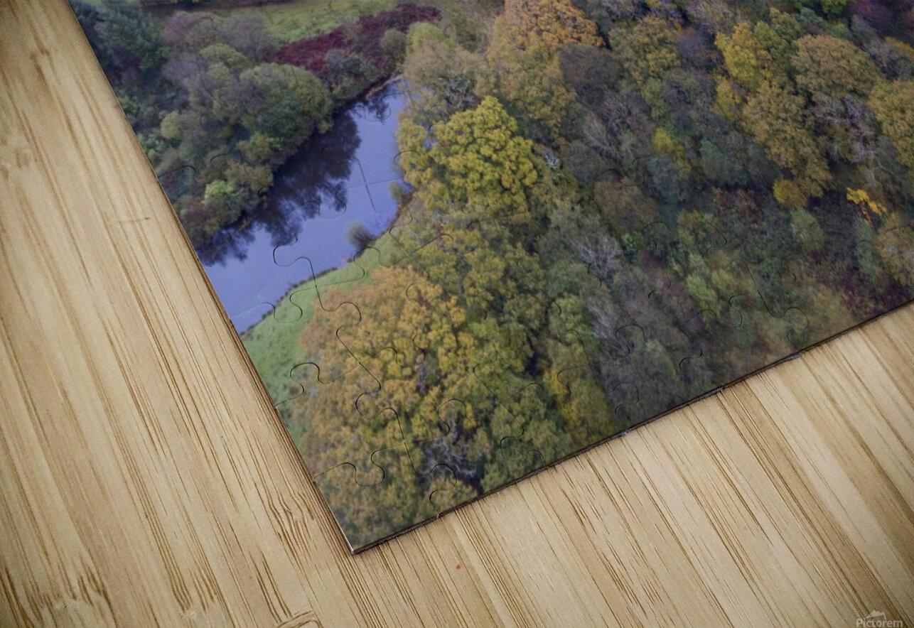Autumn in Cwm-twrch Isaf HD Sublimation Metal print