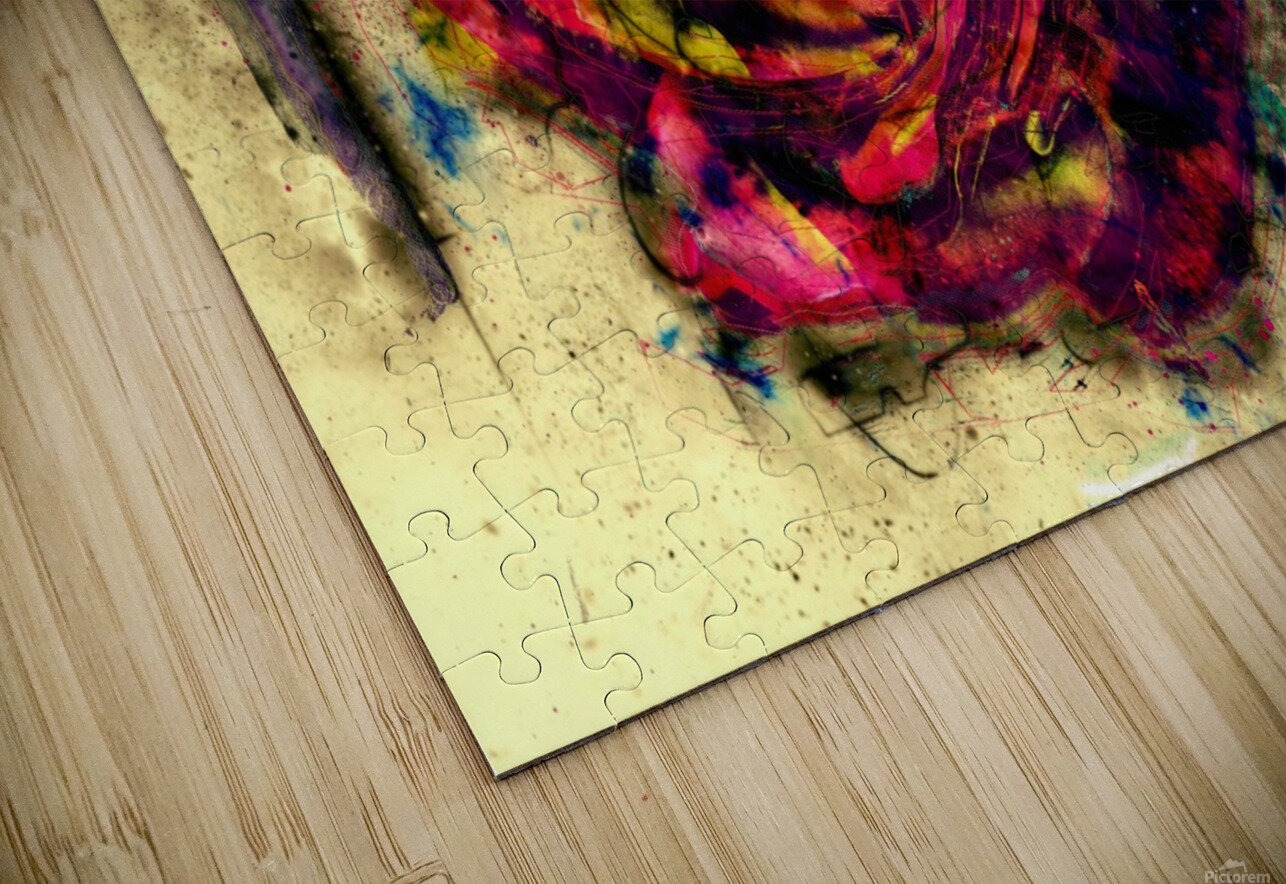 abstract rose HD Sublimation Metal print