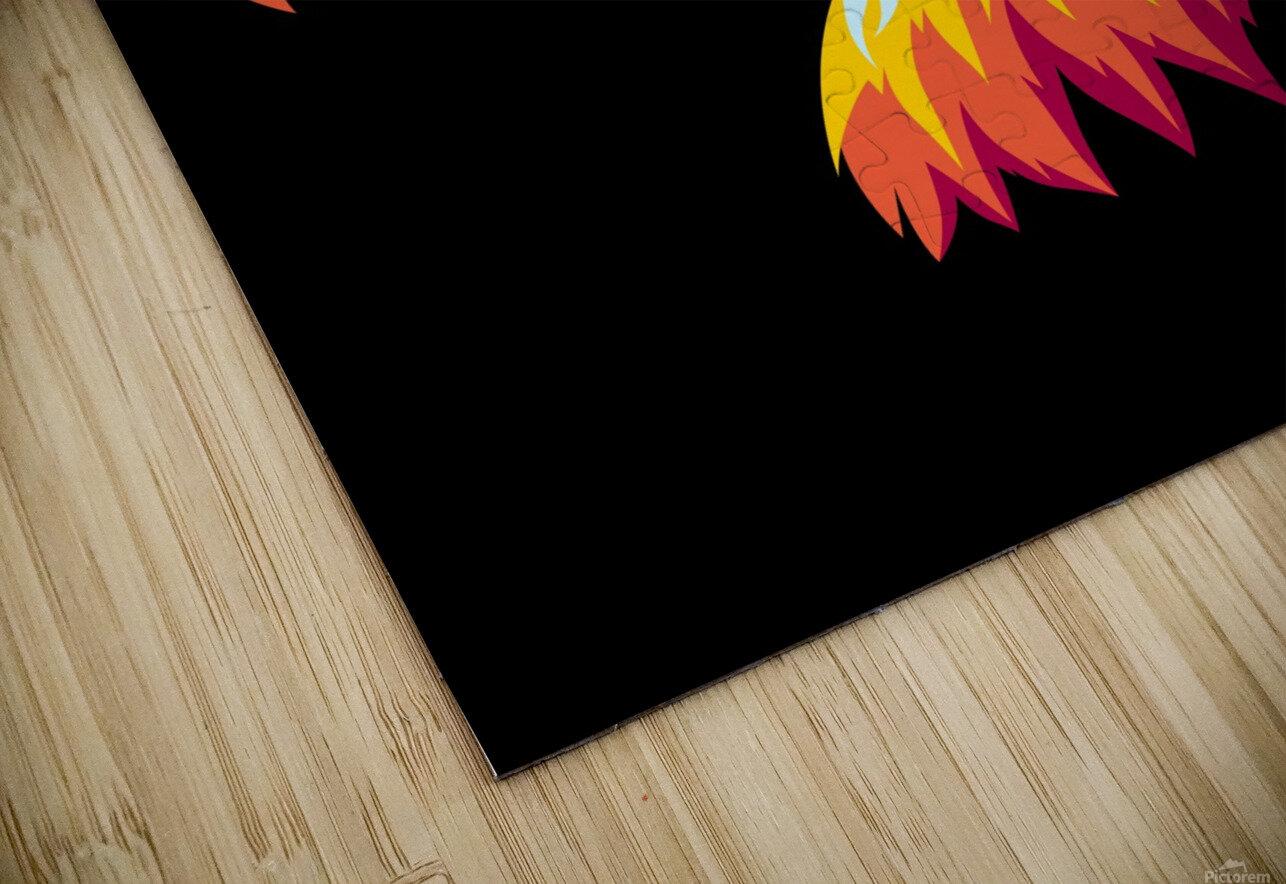 Bird of Prey in Colorful Pop Art Illustration HD Sublimation Metal print
