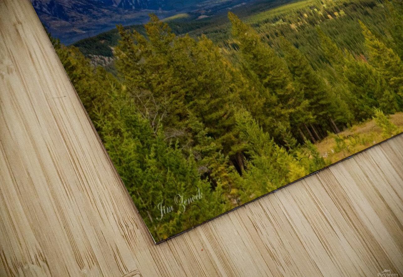 Canadian Rockies HD Sublimation Metal print
