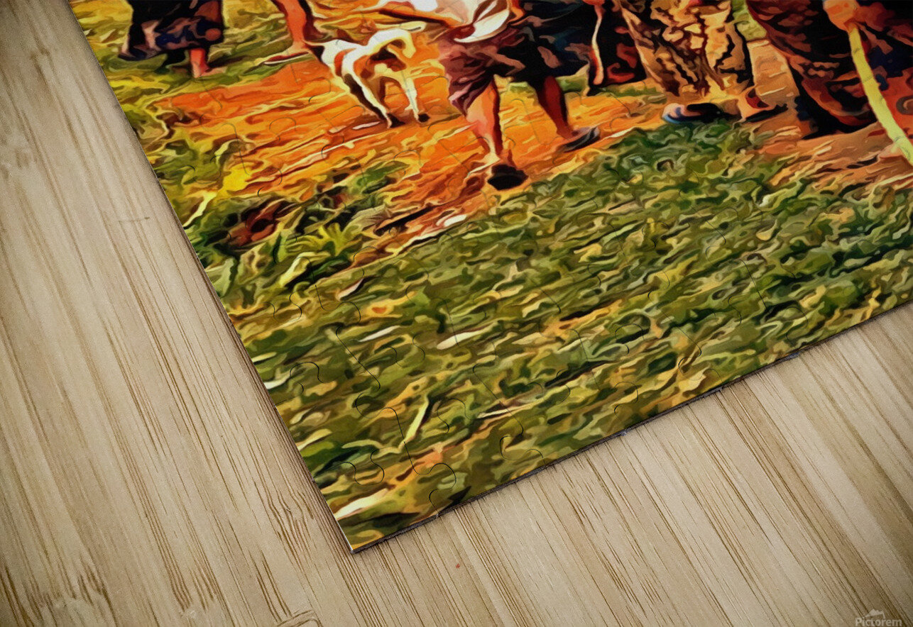 Funeral Feast Procession Bali HD Sublimation Metal print