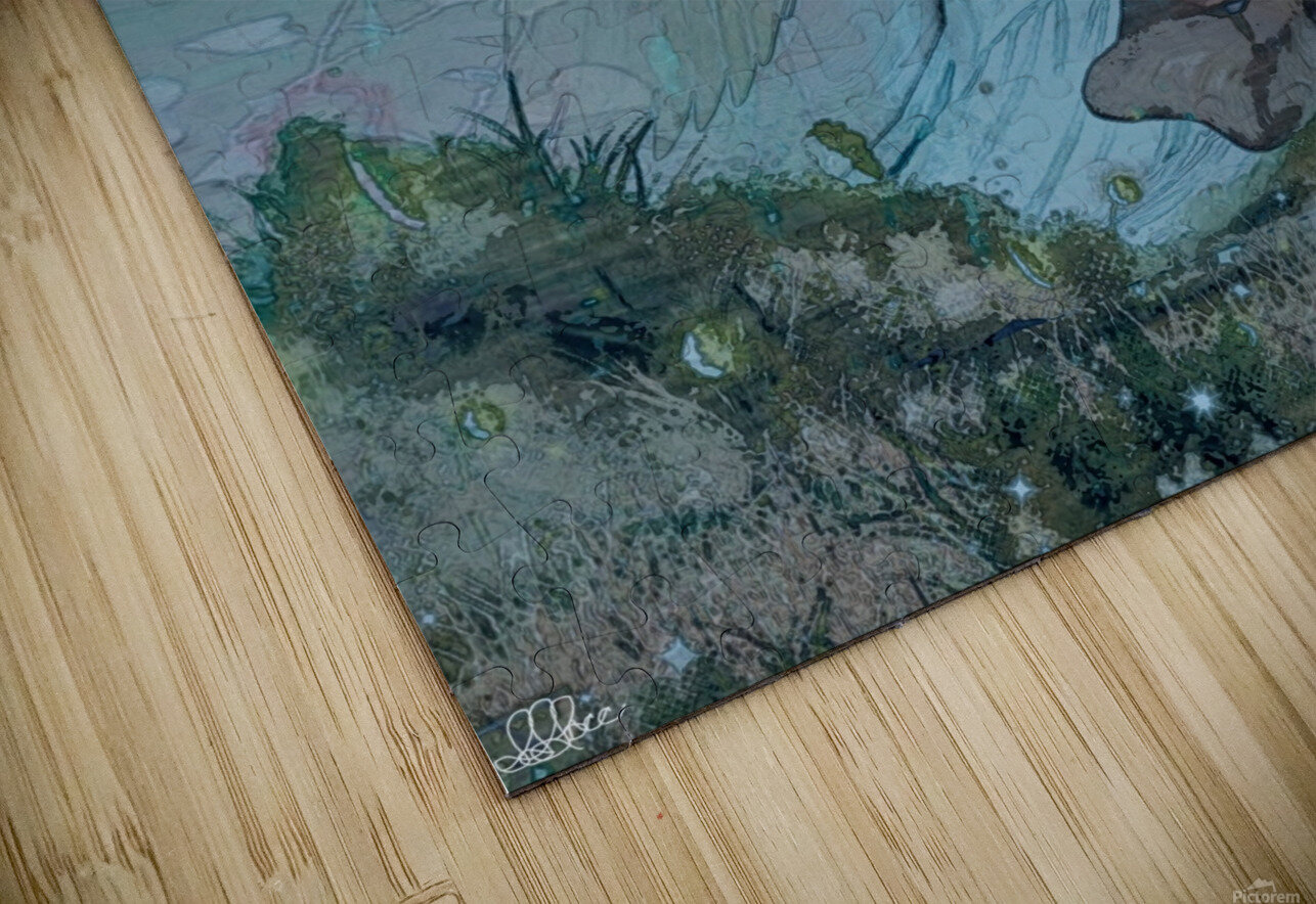Whispers of the Misty Garden HD Sublimation Metal print