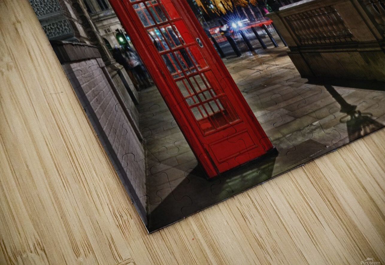 Red Phone Box HD Sublimation Metal print