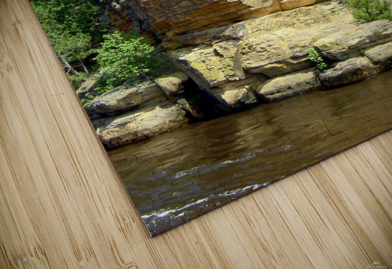 Rugged Wisconsin 4 HD Sublimation Metal print