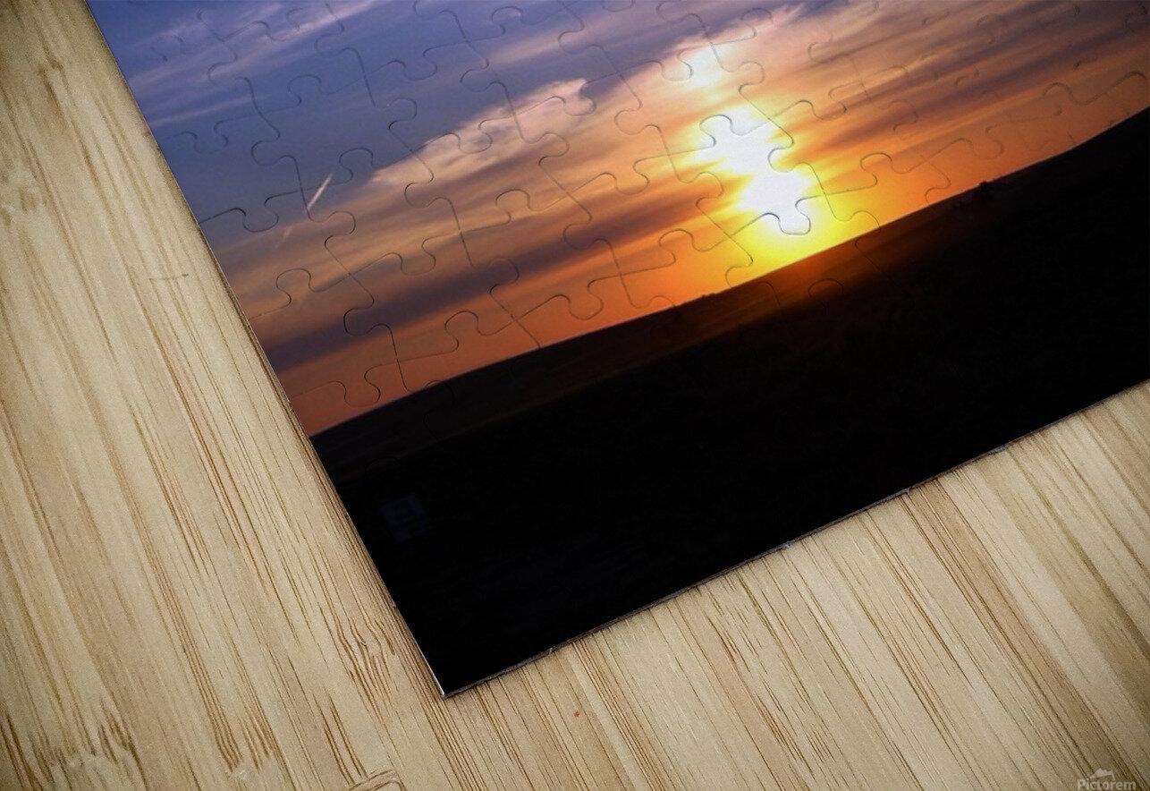 Montana   Sunset HD Sublimation Metal print