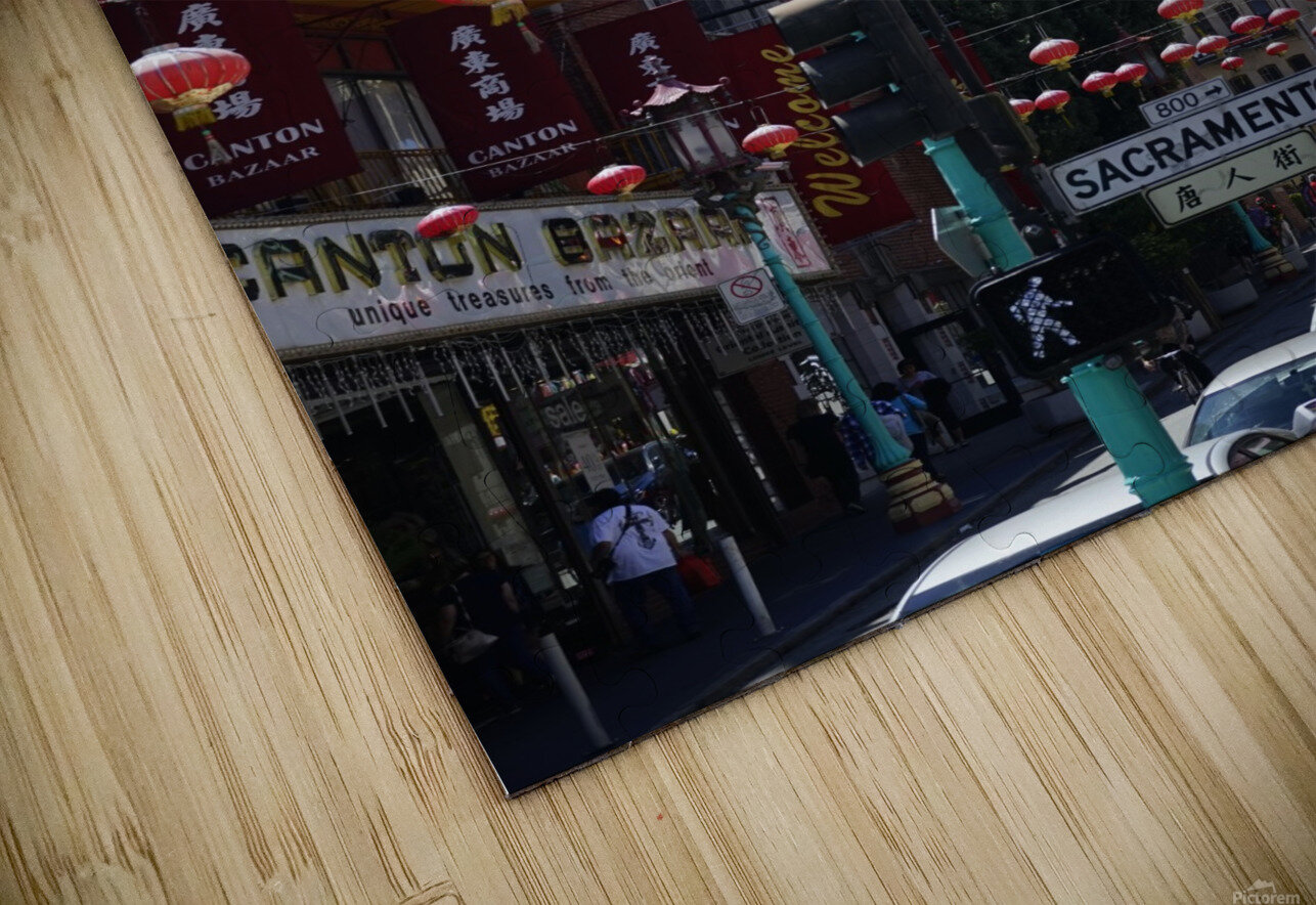 Snapshot in Time Chinatown 2 @ San Francisco HD Sublimation Metal print