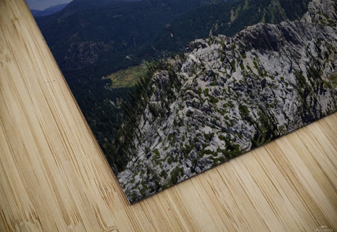 View from the Top Lake Tahoe California HD Sublimation Metal print